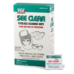 MON98311100 - PDISee Clear® Eye Glass Cleaning Wipes, 120/Box