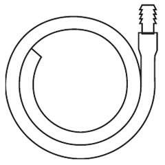 MON98461910 - HollisterExtension Tubing 18 Inch L, 11/32 Inch ID, Oval, Kink Resistant, With Connector, 10EA/BX