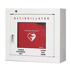 MON98985900 - McKesson - AED Wall Mounted Cabinet Heavy Gauge Steel