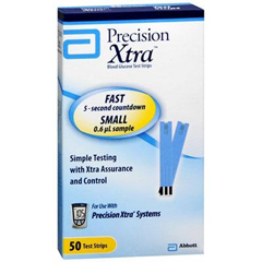 MON99832400 - Abbott NutritionPrecision Xtra .6 Microliter Blood Glucose Test Strips
