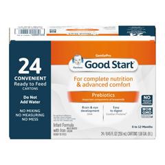 MON784699CS - Nestle Healthcare Nutrition - Infant Formula Gerber® Good Start® 8.45 oz. Tetra-Pak Ready to Use