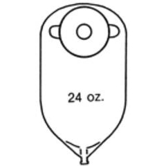 MON82064900 - Nu-Hope Laboratories - 11 Round Urinary Pouch, 1.25  Stoma, 10EA/BX