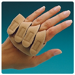 MON67913000 - Sammons PrestonRolyan® Hand-Based Neoprene Ulnar Deviation Insert, Beige, Right Hand, Small