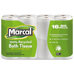 MRC1646616PK - Marcal® Small Steps™ 100% Premium Recycled Two-Ply Bathroom Tissue