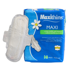 HSCMT38816 - HospecoMaxithins® Maxi Long Super Maxi Pads with Wings