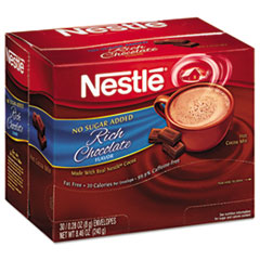NES61411 - Nestle No-Sugar-Added Hot Cocoa Mix Envelopes
