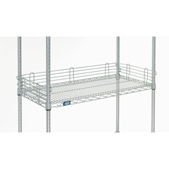 NEXAL424EP - Nexel Industries - Silver Shelf Ledge, Size 4H x  24W