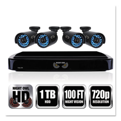 NGTBA720414 - Night Owl Four-Channel Smart HD Video Security System with Four 720p HD Cameras