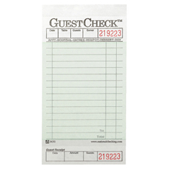 NTC525 - GuestCheck Pad with Customer Receipt Stub