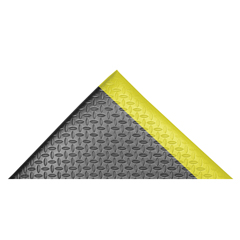 NTX508R0360BY - NoTrax508 Diamond Cushion Classic 3X60 Black/Yellow