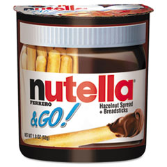 NUT80314 - Ferrero USA Nutella® Go! Hazelnut Spread and Breadsticks