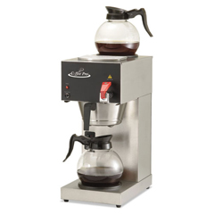 OGFCPDC128AF - Two-Burner Institutional Coffee Maker, 12 Cup, Stainless Steel, 9 x 16 1/2 x 19