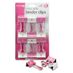OIC08905 - Officemate Easy Grip Pink Binder Clips