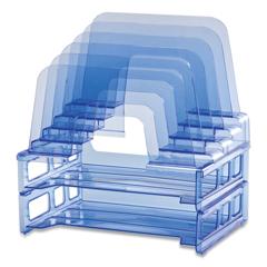 OIC116388 - Officemate Blue Glacier Desktop File Organizer
