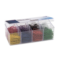 OIC97228 - Officemate Plastic Coated Paper Clips