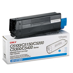 OKI42127403 - Oki 42127403 High-Yield Toner (Type C6), 5000 Page-Yield, Cyan
