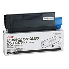 OKI42127404 - Oki 42127404 High-Yield Toner (Type C6), 5000 Page-Yield, Black