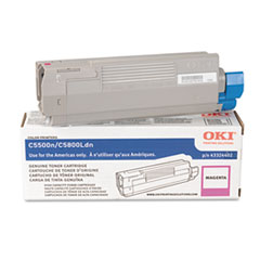 OKI43324402 - Oki 43324402 High-Yield Toner (Type C8), 5000 Page-Yield, Magenta