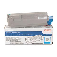 OKI43324403 - Oki 43324403 High-Yield Toner (Type C8), 5000 Page-Yield, Cyan