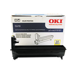 OKI44315101 - Oki 44315101 Drum, 20,000 Page-Yield, Yellow