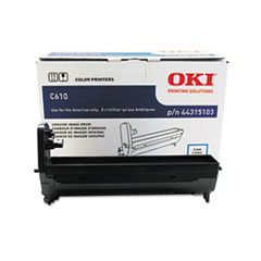 OKI44315103 - Oki 44315103 Drum, 20,000 Page-Yield, Cyan