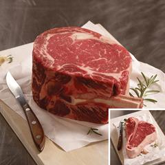 OMS40345 - Omaha SteaksKing Cut Ribeye on the Bone & King Cut T-Bone Steak