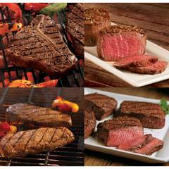 OMS40535 - Omaha SteaksT-Bones, Filet Mignons, Boneless Strips & Top Sirloins