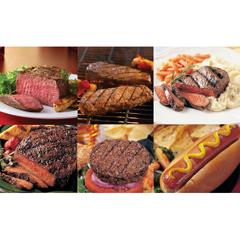 OMS40537 - Omaha SteaksFilet Mignons, Boneless Strips, Top Sirloins, Filet of Prime Rib - Ribeyes, Burgers & Gourmet Jumbo Franks