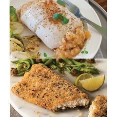 OMS40786 - Omaha SteaksStuffed Sole w/Scallops & Crabmeat and Ancient Grain Rainbow Trout Fillets