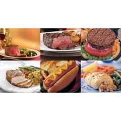 OMS4307 - Omaha SteaksFilet Mignons, Sirloin Supremes, Gourmet Burgers, Boneless Pork Chops, Gourmet Jumbo Franks & Stuffed Sole w/Scallops & Crabmeat