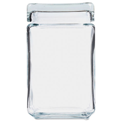 OSIGJ15Q - Office Settings Stackable Glass Storage Jars