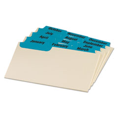 OXF03513 - Oxford® Manila Index Card Guides with Laminated Tabs