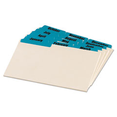 OXF04613 - Oxford® Manila Index Card Guides with Laminated Tabs