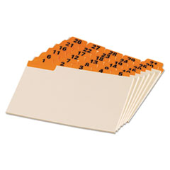 OXF04634 - Oxford® Manila Index Card Guides with Laminated Tabs