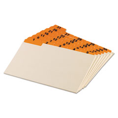 OXF05832 - Oxford® Manila Index Card Guides with Laminated Tabs