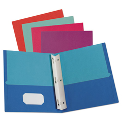 OXF51276 - Twisted Twin Smooth Pocket Folder w/Fasteners, Letter, Assorted, 10/PK, 20 PK/CT
