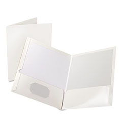 OXF51704 - Oxford® Laminated Two-Pocket Portfolio
