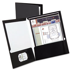 OXF51706 - Oxford® Laminated Two-Pocket Portfolio