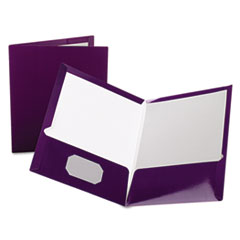 OXF51726 - Oxford® Laminated Two-Pocket Portfolio