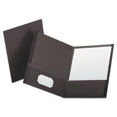 OXF53405 - Oxford® Linen Twin-Pocket Portfolio