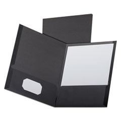 OXF53406 - Oxford® Linen Twin-Pocket Portfolio