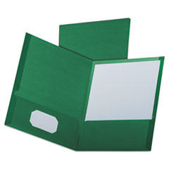 OXF53434 - Oxford® Linen Twin-Pocket Portfolio
