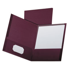 OXF53441 - Oxford® Linen Twin-Pocket Portfolio