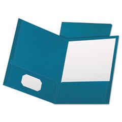 OXF53442 - Oxford® Linen Twin-Pocket Portfolio