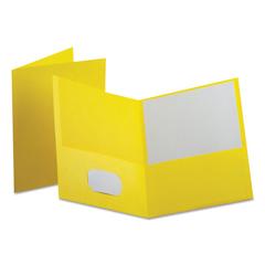 OXF57579EE - Oxford™ Leatherette Two Pocket Portfolio