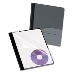 OXF57727 - Oxford® Clear Front Report Cover with Pocket and CD Slot