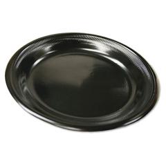 PAC0TKB0006000Y - Black Laminated Foam Dinnerware