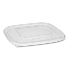 PCTSACLF07 - Pactiv EarthChoice® Recycled Plastic Square Flat Lids
