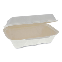 PCTYMCH00890001 - Pactiv EarthChoice® Bagasse Hinged Lid Container