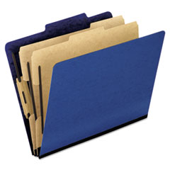 PFX1257BL - Pendaflex® Six-Section PressGuard® Colored Classification Folders